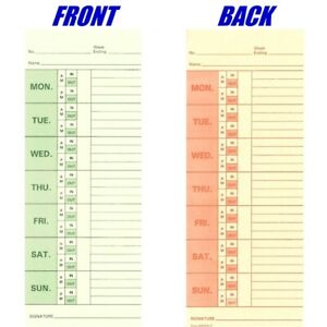 1000 Ct Form 830331 2 Bi weekly Time Cards For Right Side Printing Time Clocks
