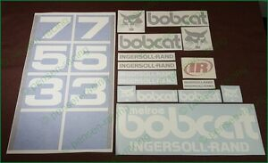 Bobcat 753 Decals Stickers Full Set Kit Skid Steer Free Shipping Original Look