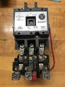 Westinghouse Size 2 Motor Starter A200m2cac 120v Coil Fh51 Heaters