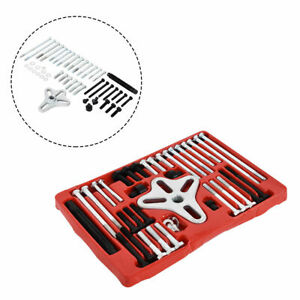 46pcs Harmonic Balancer Puller Set Steering Wheel Gear Bolt Tool Kit With Case