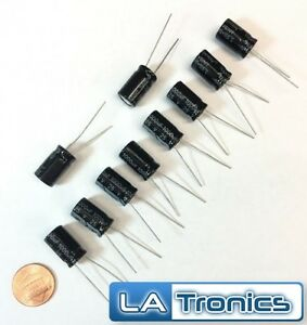 10pc Topmay Electrolytic Radial Aluminum Capacitor 1000uf 25v 10x17mm 105 c New