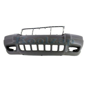 Capa 99 03 Gr Cherokee Laredo Front Bumper Cover W Fog Lamp Hole Ch1000312