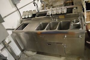 Vintage Stainless Steel Soda Fountain Bastian Blessing All Dry Ice Cream As Is