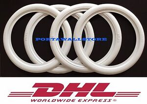 19 Lowrider White Wall Portawall Tire Insert Trim Set 4 Pcs