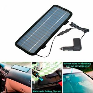 4 5w Watt 12v Car Battery Charger Solar Power Panel cigarette Adapter With Cord