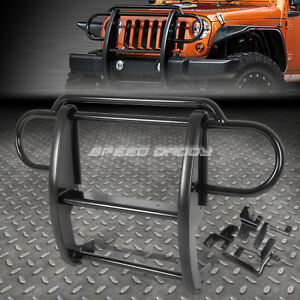For 07 17 Jeep Wrangler Suv Black Coated Mild Steel Front Grill Guard Frame