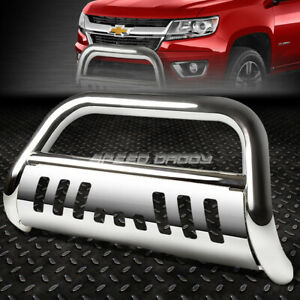 For 15 17 Chevy Colorado gmc Canyon Chrome 3 bull Bar Push Bumper Grill Guard