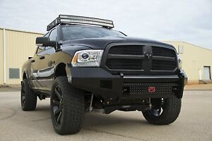 Fab Fours Dr13 K2961 1 In Stock Black Steel Front Bumper 13 18 Ram 1500