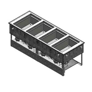 Vollrath 3667402d Top Mount 4 pan Electric Drop in Hot cold Well