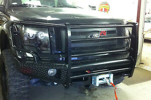 Fab Fours Ff09 K1960 1 In Stock Black Steel Front Bumper 09 14 Ford F 150