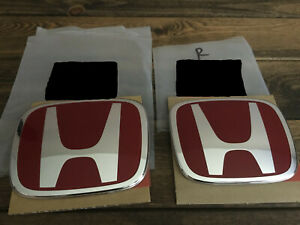 H Front And Rear Honda Civic Type R Jdm Red Emblem Badge 2016 2018 Civic Fk8 Fk2