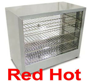 Omcan 26086 Dw cn 0641 Commercial Counter Top Food Warmer Display Case 4 Shelfs