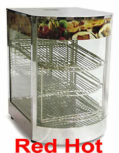 Omcan 21829 Counter Top Pizza Food Warmer Display Case 3 Shelf s Dw cn 0349