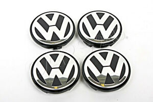 Genuine Vw Beetle Passat Jetta Touareg 04 15 Wheel Center Hub Caps Covers 4x Set
