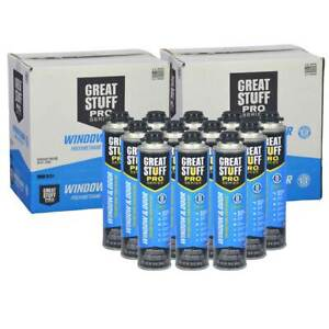 Dow Great Stuff Pro Window Door 3 Sealed Cases 36 Cans