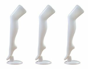 Standing Female Mannequin Leg Sock And Hosiery Display Foot 30 Tall wh 3 Pack