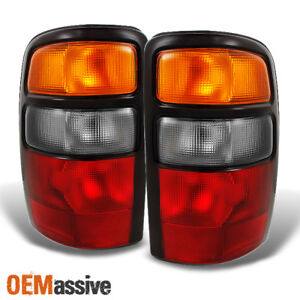 Fits 2000 2006 Suburban Yukon Tahoe Red Clear Tail Lights Replacement Pair