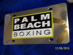 3d Mirrored Palm Beach Boxing License Plate Look Buy It Now Look