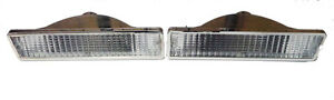 1981 1988 Oldsmobile Cutlass Clear Bumper Marker Light Set