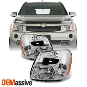 Fit 2005 2009 Chevy Equinox Headlights Lights Lamps Replacement Left Right