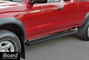 4 Black Iboard Running Boards Nerf Bars Fit 95 04 Toyota Tacoma Xtra Cab