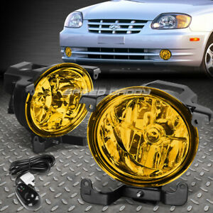 For 03 06 Rb 4dr Accent Amber Lens Oe Driving Pair Fog Light Lamp Switch Kit