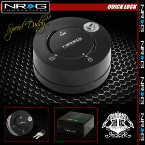 Nrg Thin Steering Wheel Short 6 hole Quick Release Lock key Adaptor Matte Black