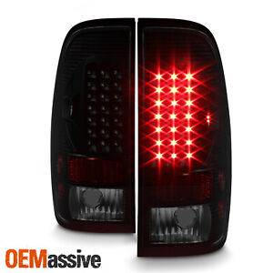 Fit Black Smoked 97 03 Ford F150 F250 Pickup Led Tail Lights Lamps Left Right