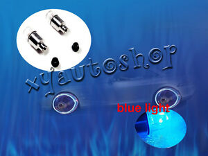 4x Blue Led Tyre Tire Valve Caps Neon Light Bike Car Motorcycle New