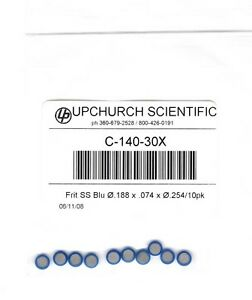 Upchurch Idex C 140 30x Stainless Steel Frits Pack Of 10