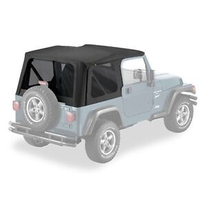 Pavement Ends Replay Top 97 06 Jeep Wrangler Tj Tinted Windows Black Denim