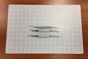 Miscellaneous Stainless Reverse Cut Nasal Rasp Lot Of 3