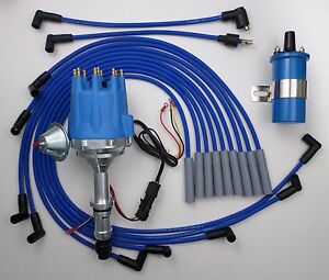 Small Cap Buick Big Block 400 430 455 Blue Hei Distributor Blue Coil Wires