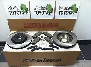 Toyota Camry 2007 2016 New Genuine Oem Front Brake Rotors Pad Kit