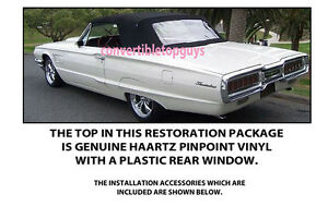 Ford Thunderbird Convertible Top Do It Yourself Package 1964 1966