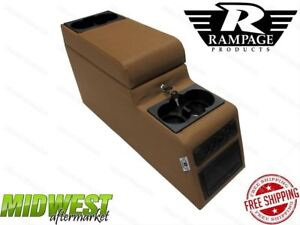 Rampage Spice Locking Center Console Fits 1976 1995 Jeep Wrangler