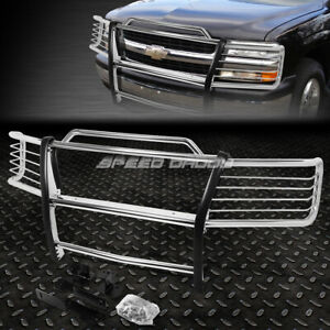 For 00 06 Chevy Tahoe suburban Chrome Stainless Steel Front Grill Frame Guard