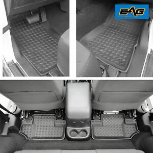2 Door Floor Mats Liner Kit Black Front And Rear For Jeep Wrangler Jk 2007 2013