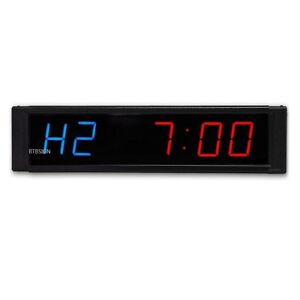 Programmable Crossfit Interval Timer Wall Clock W remote For Tabata Fitness