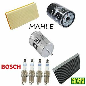 Tune Up Kit Cabin Air Oil Fuel Filters Plugs For Volkswagen Beetle 2 0l 98 01