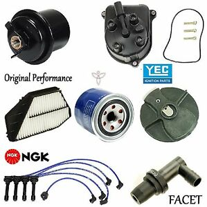 Tune Up Kit Filters Pcv Cap Rotors Wires For Honda Accord Dx Lx Se 2 2l 1997