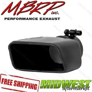 Mbrp Black Exhaust Tip Rectangle Angle Cut 7 375 Outlet 3 Inlet Passenger Side