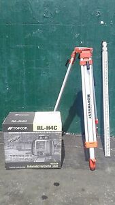 Topcon Rl h4c Self leveling Rotary Slope Laser Level Package Grade Inch
