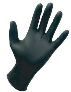 1000 Large Black Nitrile Powder free Gloves Full Case Of 1000