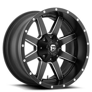 4 set Off Road 18x12 Fuel Wheels D538 Maverick Black Rims