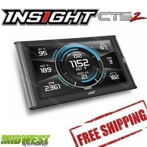 Edge Insight Cts2 Gauge Monitor For 2001 2019 Chevrolet Gmc 6 6l Duramax Diesel