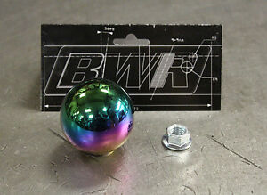 Blackworks Racing Bwr 10x1 25 Steel Weighted Ball Style Shift Knob Neo Chrome