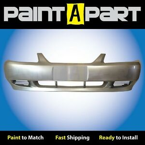 1999 2000 2001 Ford Mustang base Front Bumper Painted Yn Silver Metallic