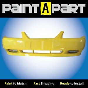 2002 2003 2004 Ford Mustang Base Front Bumper Painted B7 Zinc Yellow
