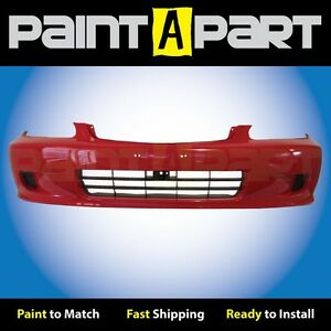 Fits 1999 2000 Honda Civic Coupe Front Bumper Painted R81 Milano Red